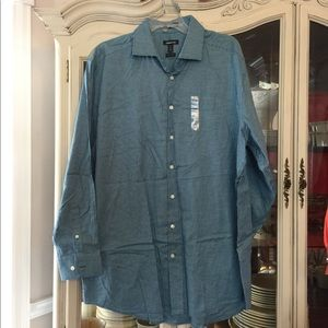 Claiborne NEW Wrinkle Free Button Down 17.5-34/35